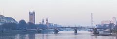 20170210_F0001: The touristy part of London (wfxue) Tags: london vauxhall bridge vauxhallbridge lambethbridge westminsterbridge parliament bigben londoneye tourism building city river water thames sky