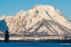 Moran From Cunningham (kevin-palmer) Tags: grandtetonnationalpark nationalpark tetonmountains cunninghamcabin wyoming winter december cold snow snowy clear blue sky sunshine sunlight nikond750 nikon180mmf28 telephoto early morning sunrise mountmoran newyearseve