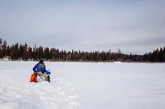 ice fishing (ulanalee) Tags: winter snow fishing icefishing lake montana placidlake ricoh ricohgrii ricohgr ricohgr2 vsco