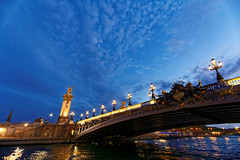 Cruising in the City of Light II (Adrien Marc) Tags: paris seine laseine pontalexandreiii bâteaulecalife lecalife bluehour light