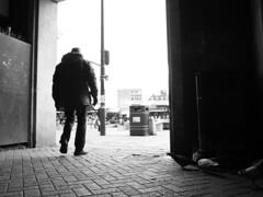 By Northampton Market Square (Stev C) Tags: bw northampton northamptonmarketsquare pigeons streetphotography