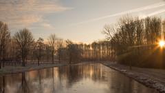 Winter sunrise ... (Alex Verweij) Tags: 19012017 2017 winter cold ice iceday winterdag ijsdag ijs sun zon sunrise zonsopgang tree trees boom bomen walking alexverweij canon 5d markiii almerehaven