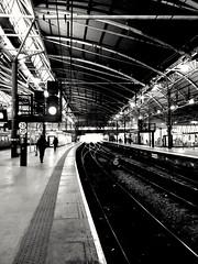 Testing Lenka (tubblesnap) Tags: lenka mobile phone app black white bw leeds railway station