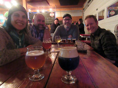 short visit to Persephone Brewing Company.. Joanne, Conor, Chris, and David.. (iwona_kellie) Tags: gibsons britishcolumbia canada chris conor visit friends persephonebrewingcompany beer food january 2017