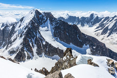 The Aiguille d'Argentière as seen from Arête Forbes (Stewart Miller Photography) Tags: aiguille argentière forbes arête chamonix mont blanc alps