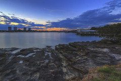Twilight at the riverside (S♡C) Tags: dusk bluehour sunset twilight parramattariver sydney australia shore riverside boathouse jetty