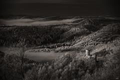 Nocturne (*altglas*) Tags: infrared infrarot ir landscape earlymorning forest pfalz südpfalz view castle burg fairytale dream nocturne