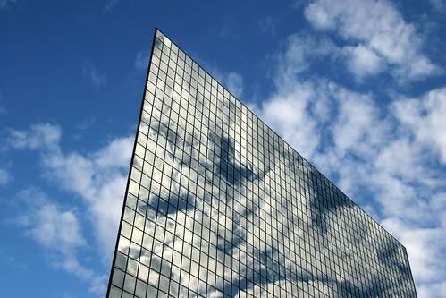 Glass Building Blue Sky
