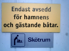 easy to misread (barnism) Tags: sign denmark scrotum
