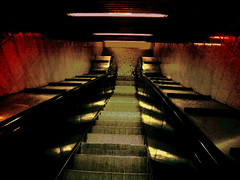 No...I won't go down there anymore!! (lancelot_milano) Tags: italy milan scale stairs subway italia milano fear escalator steps tunnel panic scared metropolitana anxiety scalamobile gradini paura terrore judgmentday52