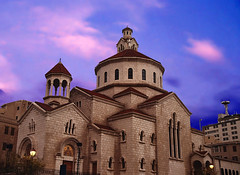 Church OMG (Délirante bestiole [la poésie des goupils]) Tags: blue lebanon church bleu beirut omg église beyrouth liban armenian transgenic