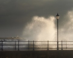 It's better to hope (Ray Byrne) Tags: uk sea wild england lighthouse storm cold wet water lamp canon wow 350d hope coast pier friend harbour jetty north wave windy oldman stranger fresh northumberland lamppost shore splash northern northeast passerby encounter moral amble raybyrne coquetisland byrneout thebestofday gnneniyisi