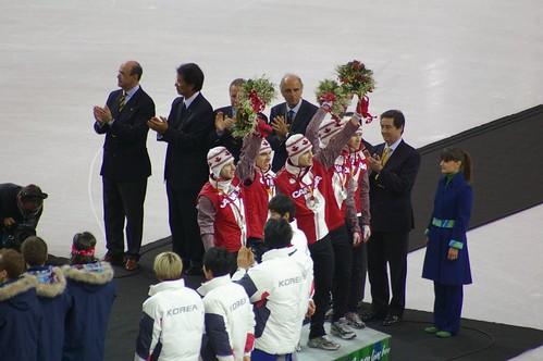 Canadian Men win Silver in Short Track Relay