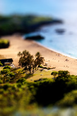 Waimea Bay Miniature (disneymike) Tags: travel vacation hawaii miniature model nikon oahu d2x fake shift northshore waimea nikkor tilt waimeabay tiltshift 70200mmf28gvr fakemodel modelphotography