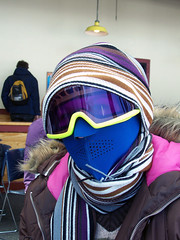 Bundled (greendrz) Tags: winter snow ski girl hat scarf skiing mask goggles layers firsttime bundled warmclothes wachusett fromflorida greendrzint greendrz