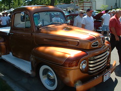 Bronze Truck Whole Shot 2 (bigfuzzyjesus) Tags: car hotrod streetrod ratrod backtothe50s