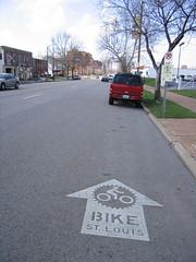 Bike St. Louis Sharrow