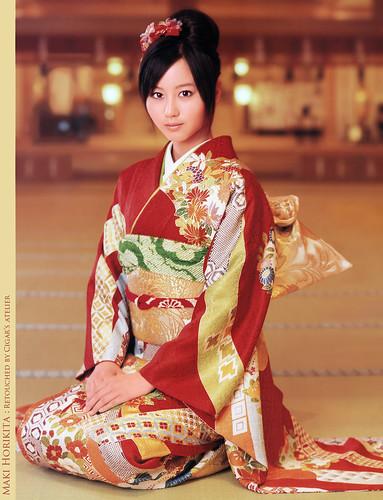kimono in Japanese girl