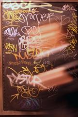 Church Street station (Shannon K) Tags: sanfrancisco blur station graffiti frames muni castro commute hurry churchstreet compositionclass