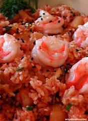 kimchi shrimp fried rice (woolloomooloo) Tags: food yummy woolloomooloo delicious coolpix spicy homecooking simple nikondigital fastandeasy ikitchen sdws kimchishrimpfriedrice
