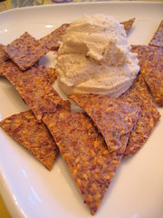 cashew_cheese_and_flax_seed_crackers (tofu666) Tags: food dinner vegan raw tofu cashew rawfood flaxseed rawfoodwednesday