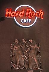 Hard Rock Cafe, Lisbon. (Metropol 21) Tags: cinema sign architecture logo neon lisbon landmark spotlight artdeco hardrockcafe