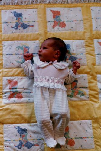Maya, 1 week old