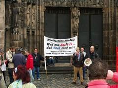Montagsdemo in Nürnberg