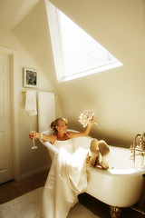 Bride in Bathtub (robertevans_com) Tags: flowers wedding celebrity art photography groom bride engagement photographer candid photojournalism marriage passion bouquet nuptials cermony marrried top20wedding phortography engagementwedding engagementewedding photographymentorcom