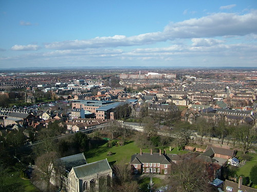 York From the top of The Minster