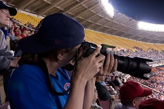hot girl-on-lens action, RFK Stadium