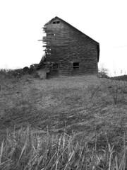 Black & White Tumbled Barn (nonsequitur1979) Tags: old barn farm farmland oldbarns farms decrepit oldbarn uppervalley farmlands agingfarm decrepitfarm decrepitbarn disappearingfarm