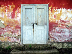 Waiting To Be Discovered (Aleksandra Radonic) Tags: door house abstract detail wall vintage doors artistic magic serbia photojournalism surreal forbidden kosovo mysterious enter minimalism emotions locked minimalistic balkan redold