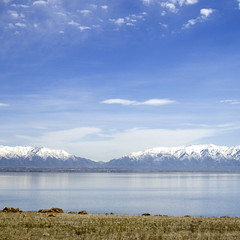 Great Salt Lake (bentilden) Tags: usa color beautiful utah pentax antelopeisland greatsaltlake istdl