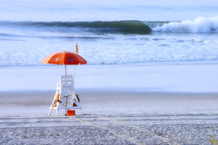 At the Beach (` Toshio ') Tags: ocean beach tag3 taggedout myrtlebeach surf tag2 waves tag1 gutentag pastel southcarolina lifeguard atlantic 1on1 toshio wordlthroughmyeyes superaplus heritage2011