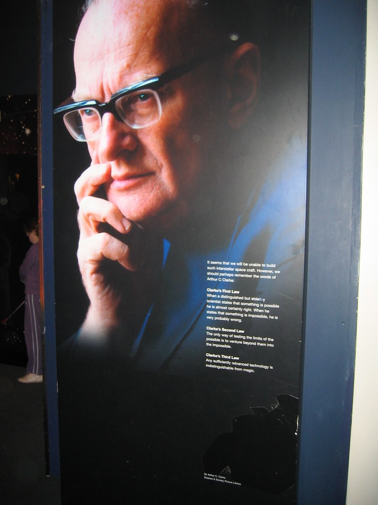 Arthur C. Clarke with quote
