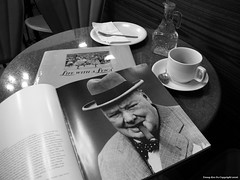 Life with Leica, book, cigar and coffee (Keith Yeung) Tags: leica coffee hongkong book flickr digilux2 cigar winstonchurchill coffeebook coffeebook gf10parkroadmidlevelshongkong