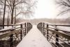 First Snow (+Lonnie & Lou+) Tags: nature snow winter cold ohio travel sony landscape architecture bridge white gloomy sidney usa a7r path sky footbridge