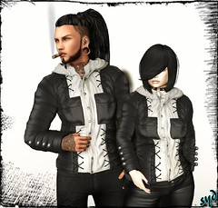 Elise & Charle (syddarkaless) Tags: tcod design leather jacket men women charle elise hud textures