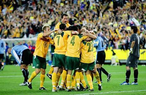 celebrations after 1st half goal