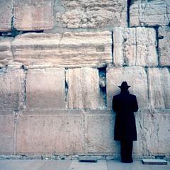 western wall (mikefranklin) Tags: 1994 september jerusalem kodachrome asa64 mediumformat rolleiflex tlr scanned westernwall hakotel jewish israel fantastic