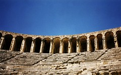 Ampitheatre (IrenaS) Tags: turkey travel architecture greek roman ampitheatre aspendos