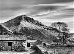 . Lake District III - Part (vi) . (3amfromkyoto) Tags: park uk winter england blackandwhite bw lake monochrome early farm district great lakedistrict national cumbria gable burnthwaite 3amfromkyoto flickr:user=3amfromkyoto