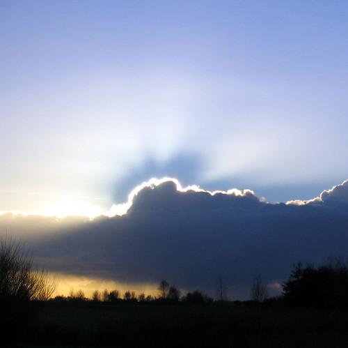 clouds & sun by docman.