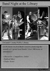 Band Night Trading Card (Michael Casey) Tags: blackandwhite bw music libraries tradingcard bands concerts publiclibrary gcpl