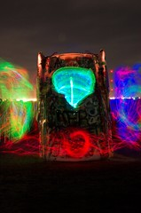 Cadillac Lights (Dustin Taylor) Tags: longexposure light abstract colors experiment cadillacranch