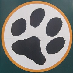 dog paw logo to raise awareness of dog owners