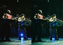 Carlos & Marivaldo Splash 3D.jpg (SteveMcN) Tags: stomp orpheum nyc performance 3d sterography
