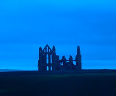 Whitby Abbey - blue version (JuanJ) Tags: uk england art apple abbey photoshop macintosh lumix interestingness mac cs2 unitedkingdom yorkshire panasonic eruope whitby fz northyorkshire fz30 robinhoodbay interestingness4 iwantse7en explore26nov05 i500