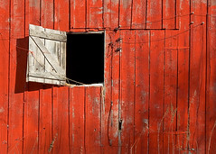 Barn Door Open (Todd Klassy) Tags: lighting door hinge wood old red summer sky sunlight black color colour abandoned horizontal wall wisconsin barn rural vintage landscape outside outdoors wooden interestingness boards warm peeling paint day exterior open flat earth farm painted side country farming vision wires frame backgrounds weathered beyond portal agriculture wi element twine redbarn abyss barndoor artistry oldbarn colorred hinges farmbuilding stockphotography vibrantcolor rurallife hayloft darkhole colorimage danecounty ruralscene barnboards buildingexterior nonurbanscene makinghay ruralwisconsin wisconsinphotographer toddklassy compenent wisconsintravelphotographer openbarndoor